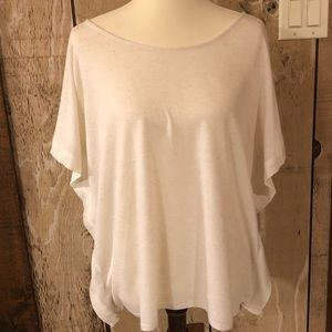 Cream Marble Butterfly Sleeve Top